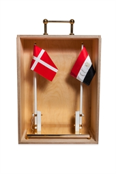 Danish produced wooden box - double